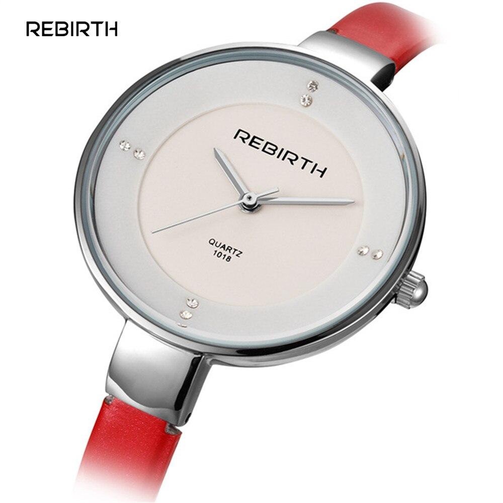 REBIRTH 2017 Fashion Wristwatch Women Watches Ladies Luxury Brand Famous Quartz Watch Female Clock Relogio Feminino Montre Femme