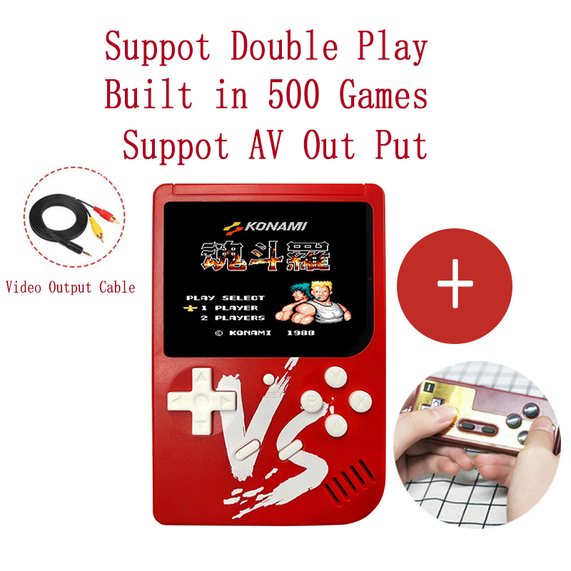 Game-Player 500-Games Handheld Retro Mini Support AV Built-In Output