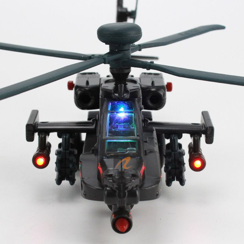 Apache Gunship Helicopter Alloy Aircraft Aviation Model 1:64 Collection Toys