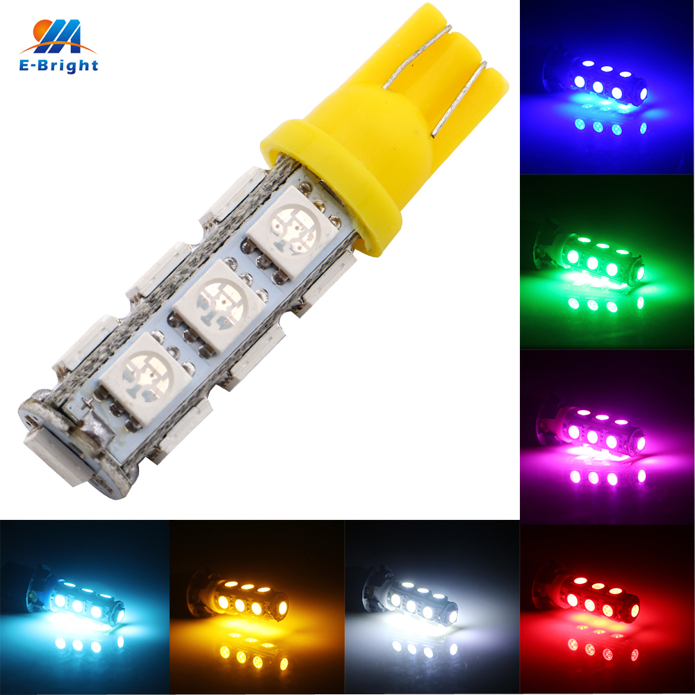Led Auto Verlichting 50 Stks T10 5050 194 168 W5w 13 Smd 13 Led Super Heldere Gloeilamp Auto Verlichting Parking Leeslamp Hot Sale June 2019