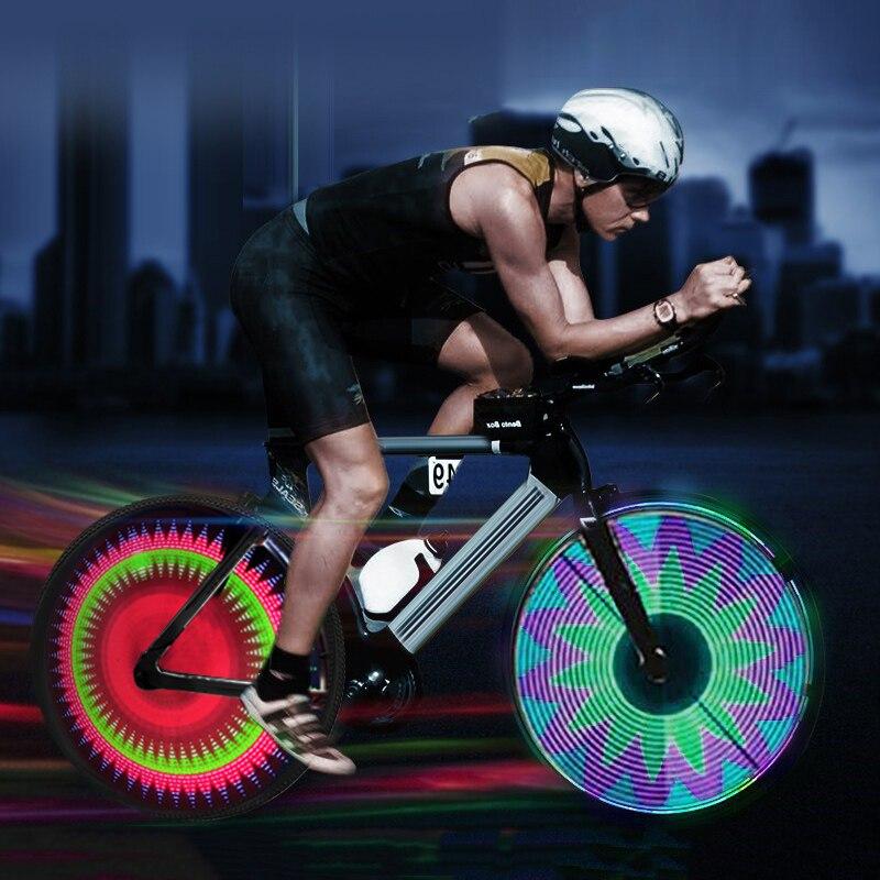 128 LED programmable DIY Bike Wheel Spoke Light 26/'/' DIYBicycle Light Waterproof