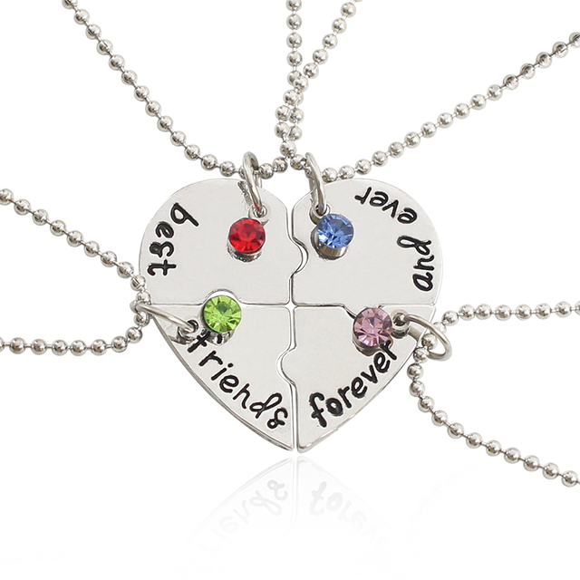 aliexpress com buy 4 pcs love heart best friend forever and ever