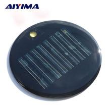 AIYIMA 10PCS 4V 40mA Epoxy Solar Panel China Photovoltaic Cell Panel Solar Portable Charging Battery 0.16W 81.3mm Solar Panel