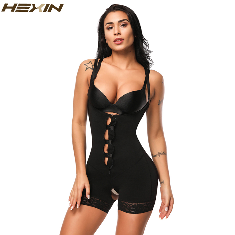 9c0b8b44f70b9 HEXIN Clip and Zip Waist Lace Slimming Shaper Corset Control Shapewear Butt  Lifter Strap Body Shaper Underwear Bodysuit Women