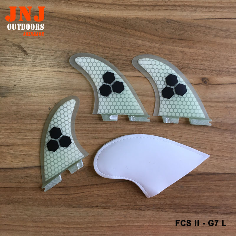 Free shipping quality FCS II G7 L surfboard fins fcs 2 Large size thruster fin made