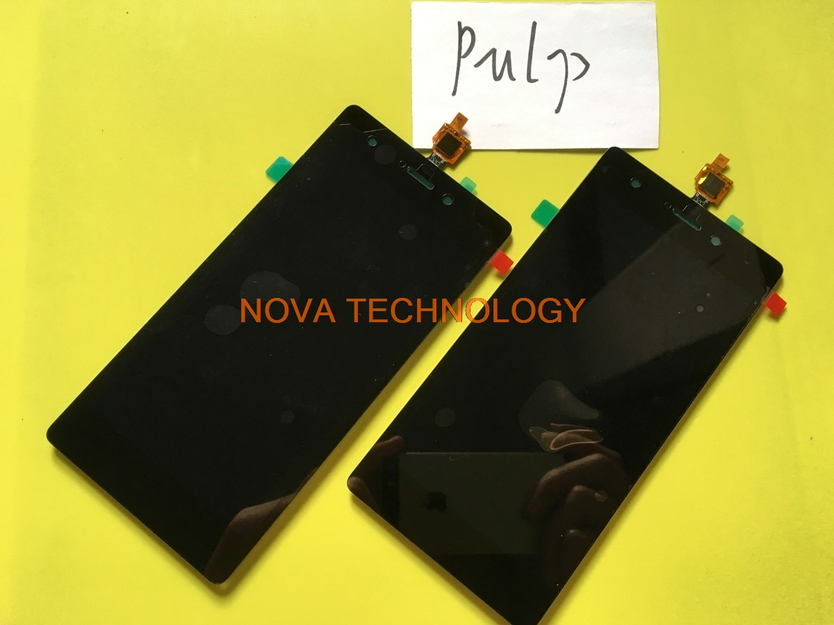 New Pulp Digitizer Panel Replacement Parts For Wiko Pulp 4G Touch + LCD Display Screen Assembly ; With Tracking Number