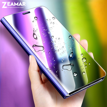 Coque For iPhone 6 6s 7 8 Plus 10 X XS XR XS Max Case Luxury Mirror Clear View Flip Stand Cover For iPhone 7Plus 8Plus Funda iphone 6