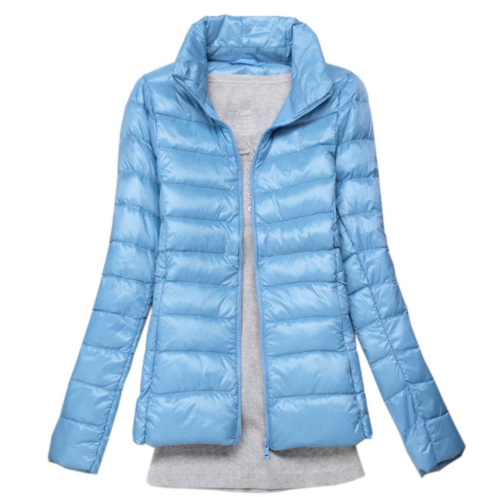 2019 New Brand 90% White Duck   Down   Ultra Light Jackets Women Autumn Winter   Down   Jacket   Coat   Female Zip Pocket   Down   Jacket Parkas