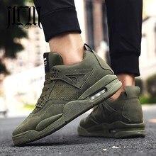 MumuEli Air Cushion Gray Green Black 2019 New High Top Quality Shoes Men Brand Casual Designer Fashion Luxury Flat Sneakers K616