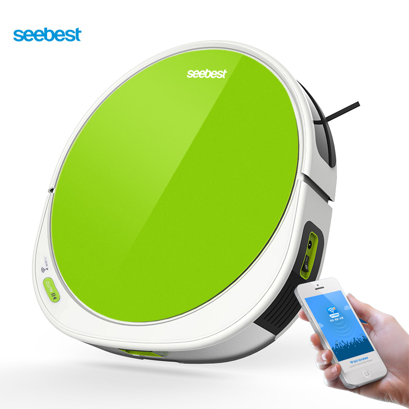 Seebest Peas 1.0 F780/F780A Robotic Vacuum Cleaner WIFI APP Control, V Type Rolling Brush or Suction Inlet for Choice liectroux x5s robotic vacuum cleaner wifi app control gyroscope navigation switchable water tank