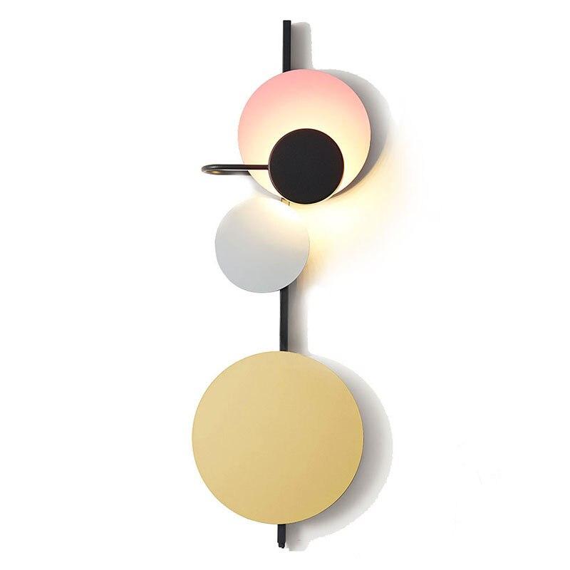 Norte da Europa Pós Escadas de Design Retro Moderno Levou Luz de Parede de Luxo Café Sala de estar Quarto Cabeceira Led Home Da Parede Estrela lâmpada - 3