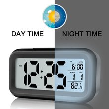 Clock Digital Battery-Sensor Nightlight Lcd-Display Office-Table Kids Large New Snooze