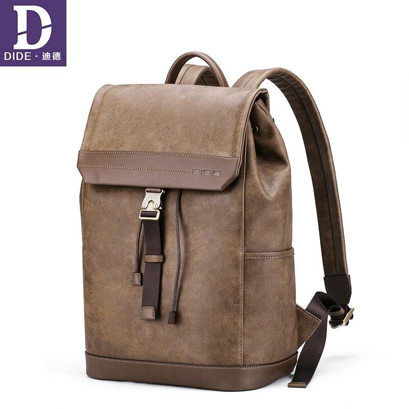 DIDE mode hommes sacs à dos vintage sac à dos sac d'école sacs de voyage pour hommes grande capacité voyage sac à dos sac à dos étanche