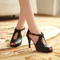 Plus Size 30-43! 2015 New Arrival Hot Sale Fashion Office Summer Women Pumps High Heel Sandals Casual Women Shoes Black