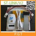 1 шт./лот лучшее качество ST-LINK/V2 Процессор, Основанный STM8S STM32 Программист 5 В USB 2.0 JTAG DFU аутентичные