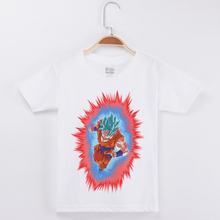 Children Clothing Boys Cotton Short Sleeve T-Shirt 3D Printed Dragon Ball Girls T Shirts Kids Clothes Child Basic White Tops Tee все цены