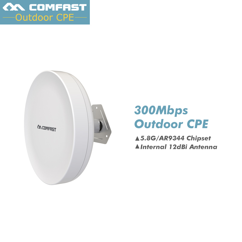 WIFI CPE Router 300Mbps 5Ghz Wireless Outdoor WIFI Access Point WIFI Repeater AR9344 2KM-4KM Waterproof WIFI Range Extender outdoor cpe 5 8g wifi router 200mw 1 3km 300mbps wireless access point cpe wifi router with 48v poe adapter wifi bridge cf e312a