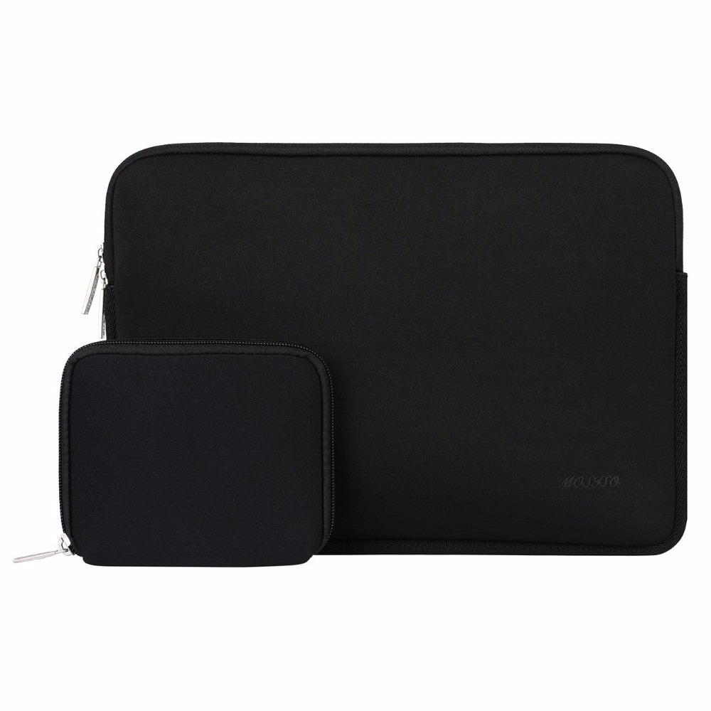 Mosiso Black Men Laotop Sleeve Bag for Macbook Air Pro Asus Acer Sony Toshiba Lenovo 15 15.6 inch Notebook with Charger Case mosiso laptop bag case for macbook air pro retina 11 13 15 zipper bags carry pouch cover for asus lenovo notebook soft sleeve