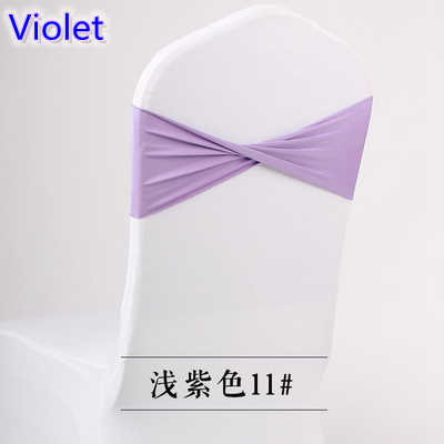 Colour violet lilac spandex sash lycra sash for chair cover spandex bands bow tie For Wedding Decoration banquet design on sale
