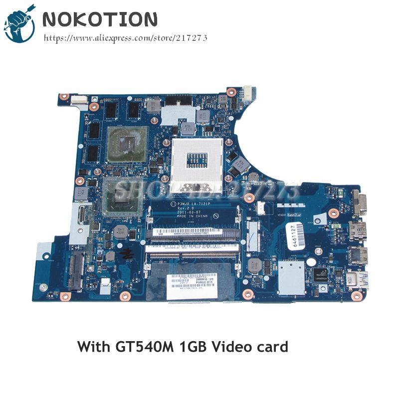 NOKOTION P3MJ0 LA-7121P MAIN BOARD For Acer aspire 3830 3830TG Laptop Motherboard MBRFQ02002 HM65 DDR3 GT540M 1GB mbrr706001 mb rr706 001 laptop motherboard fit for acer aspire 5749 series da0zrlmb6d0 c0 hm65