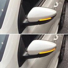 2 parça LED Yan Kanat Dinamik Dönüş sinyal ışığı VW Passat CC için B7 Beetle Scirocco Jetta MK6 dikiz aynası Göstergesi