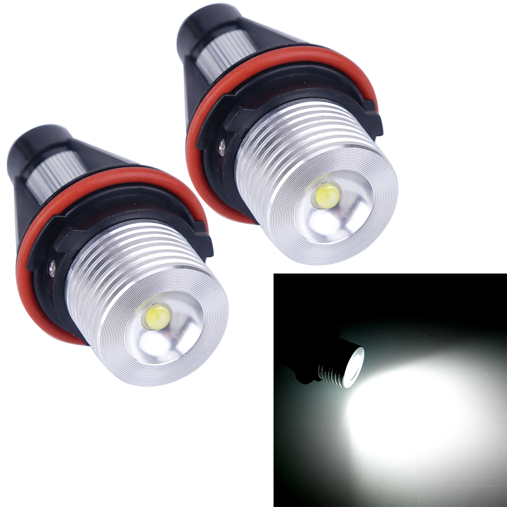 2pcs Led 12v Cree Chip Angel Eyes Led Marker Light Lamp Bulb Replacement For BMW E39 E60 E61 E39 E63 E64 E65 E66 E83 X5 BMW 1 pair free shipping high power cree angel eyes led maker lamp fit for bmw e39 e53 e60 e61 e63 e64 e66