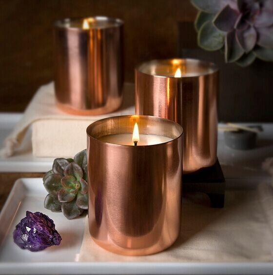2015 new copper wax candle cup rose gold candle holder golden finish brass metal soy candle. Black Bedroom Furniture Sets. Home Design Ideas