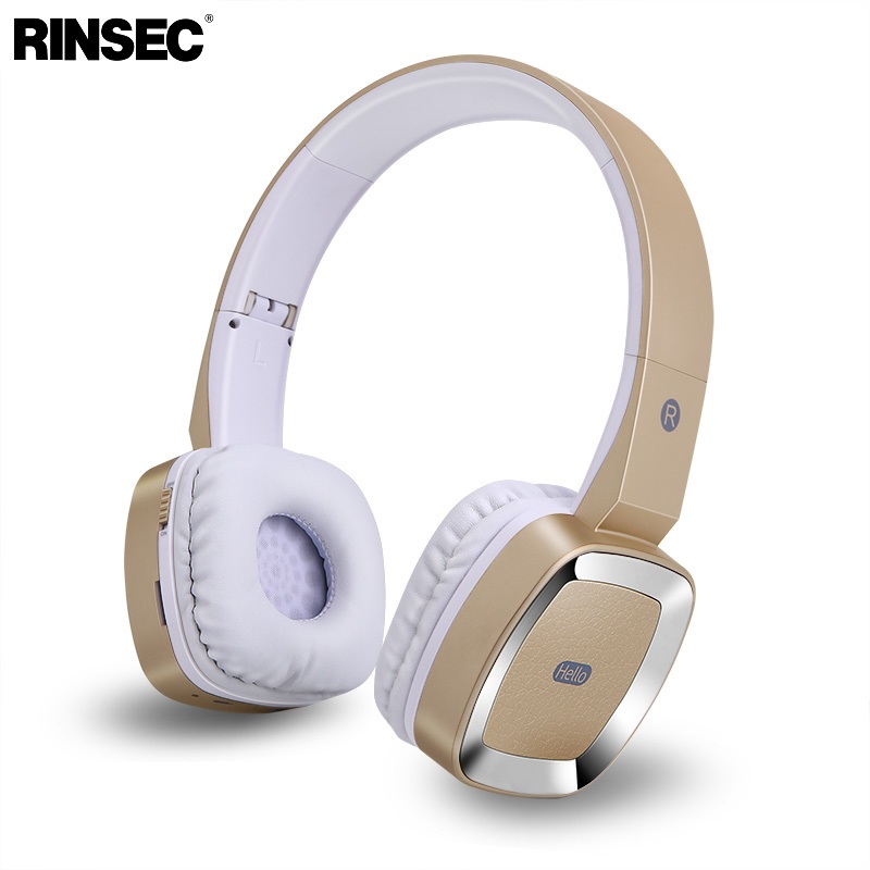 Rinsec T6 Wireless Bluetooth Headphones with 3.5mm Wired Connection TF Card Slot Microphone Stereo Music Playing for Phone PC ks 508 mp3 player stereo headset headphones w tf card slot fm black
