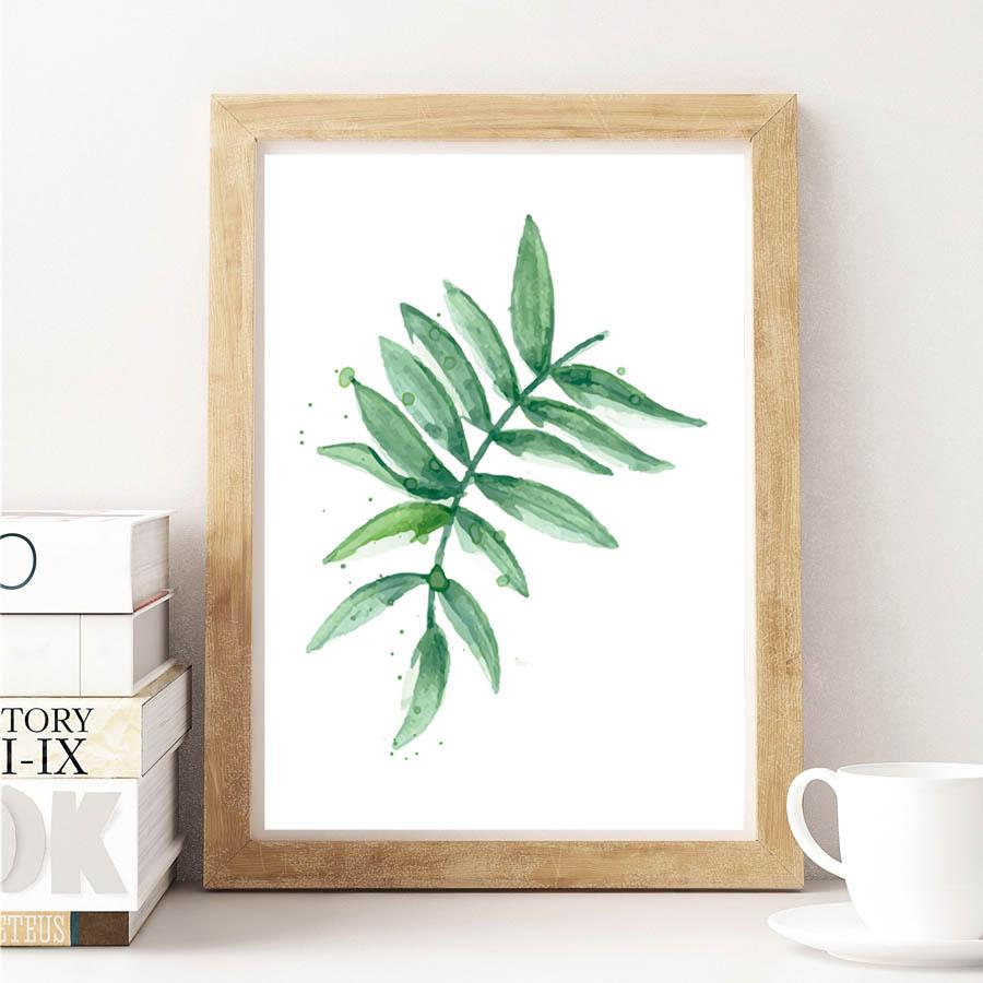 Nordic Green Plant тропикалық жапырақтары - Үйдің декоры - фото 3