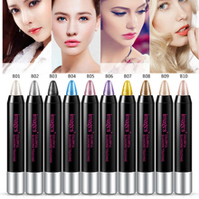 Colorful Smooth Silkworm Touching Eyeshadow Pencil Waterproof Shimmer Eye Shadow Eyeliner Makeup Pen Highlighter Cosmetic