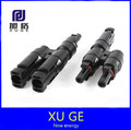 1 pair IP65 PV T type connector MC4 solar connector T Branch Connector male&female kit for solar panel