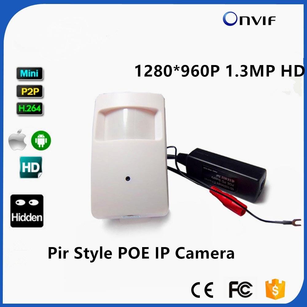 960 P миниатюрный IP Камера PIR Стиль 1.3MP ONVIF P2P Plug and Play мини ПИР Камера IP Пинхол Мини сети IP Камера POE CCTV