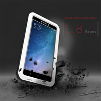LOVE MEI Case For Mi Max 2 ShockProof Metal Aluminum Frame Silicon Luxury Phone Cases Case