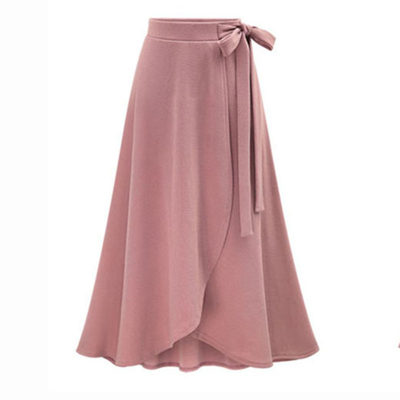 Vintage Slit Skirts Womens Long Skirt 2018 Plus Size 6XL Ladies High Waist Summer spring Slim ...