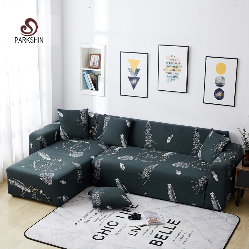 Parkshin Fashion Slipcover Non slip Elastic Sofa Covers Polyester Four Season All inclusive Stretch Sofa Cushion 1/2/3/4 seater-in Sofa Cover from Home & Garden