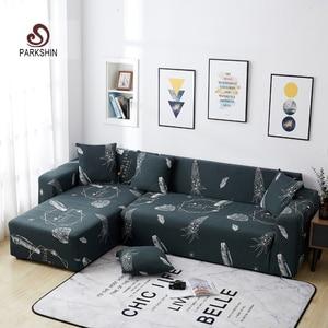 Image 1 - Parkshin модный чехол для мебели, нескользящие эластичные чехлы для диванов, всесезонные эластичные диванные подушки из полиэстера, 1/2/3/4 местные