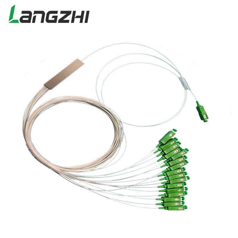 10 Items Sc Apc Single Mode Fiber Optical Ftth 0.9Mm Mini Plc Splitter 1X16