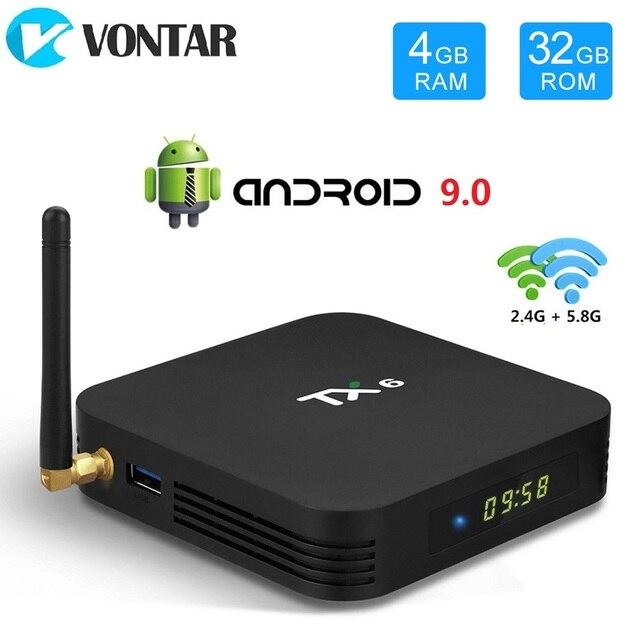 VONTAR TX6 Android 9.0 TV Box Allwinner H6 Quad Core 4GB 64GB USB3.0 Dual Wifi BT HDR 4K 4GB 32GBชุดกล่องด้านบน4GB 32GB 2GB 16GB
