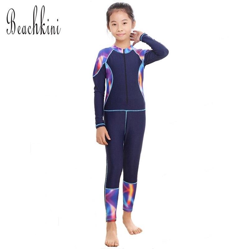 Bodysuit Swimsuit Girls One Piece Swimwear Children Beachwear Sports Swim Suit Bathing Suit Tight