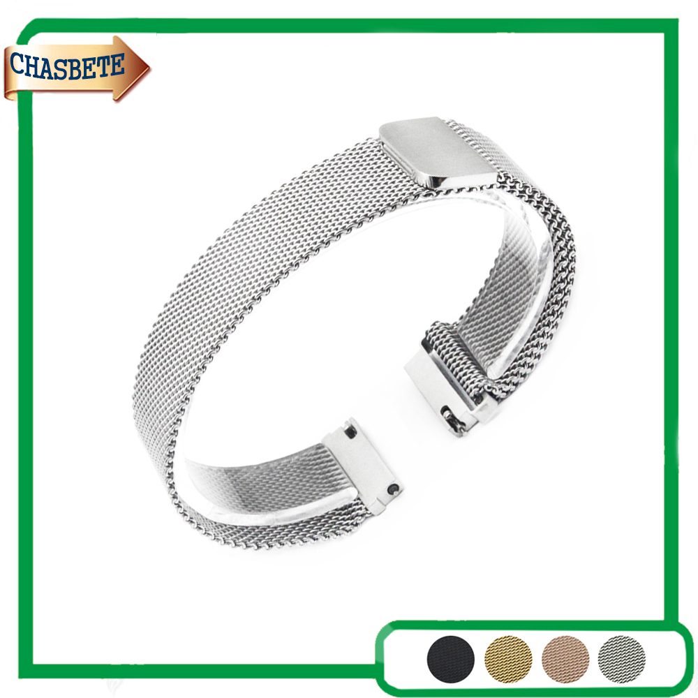 цена на Stainless Steel Watch Band for Pebble Time / Round / Steel / Bradley Timepiece 20mm 22mm Metal Strap Belt Wrist Loop Bracelet
