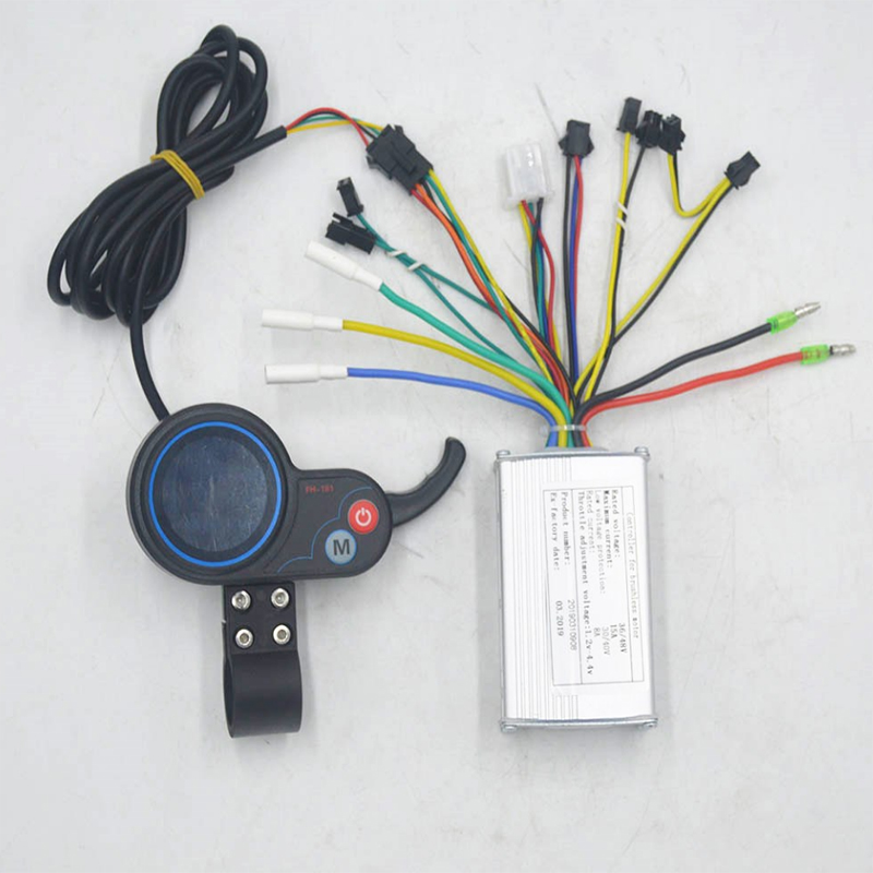 36 48V 250W 350W electric scooter controller with throttle LCD display for BLDC motor scooter e bike brushless sensor in Scooter Parts Accessories from Sports Entertainment