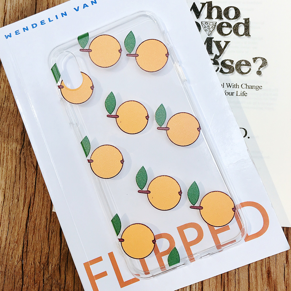 KIPX1084_3_JONSNOW Phone Case For iPhone XS Max XR XS 7 Plus 8 6 6S 6 Plus Fruit Oranges Pattern Clear Soft Silicone Back Cover Capa Fundas