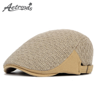 2016 New England Style Knitted Beret Hat Retro Berets Winter Hats For Men Or Women Z