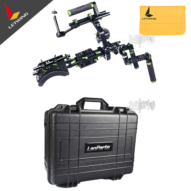 Lanparte SCR-01 DSLR Single Handle Rig Kit w/ Follow Focus for 5D2 7D Studio Video Camera professional 45cm follow focus assist handle whip for slr camera black
