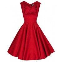 2016 Fashion Women Dresses Spring Robe Sexy Plus Size Solid Retro 50s 60s Vintage Dress Cotton