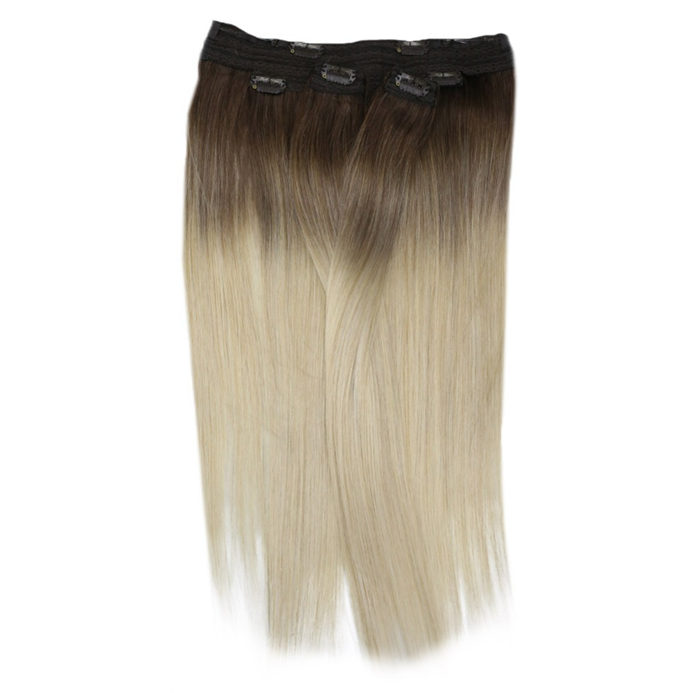 Full Shine Balayage Color #3/8/613 Hair Weft 100g Sew In Ribbon Hair 100% Machine Made Remy Hair Weft Extensions Hair Bundles