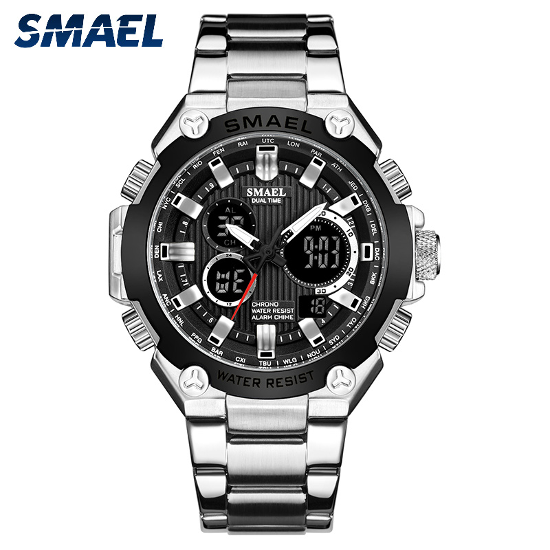 Quartz Watches Men Luxury Brand SMAEL Watch Men Mechanical Mens Automatic Army Watches1363 Waterproof Calendar Quartz Wristwatch