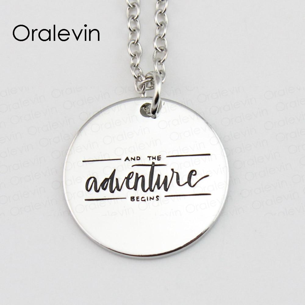 И приключения начинается кулон Талисманы Цепочки и ожерелья подарок ювелирные изделия 10 шт./лот # ln478