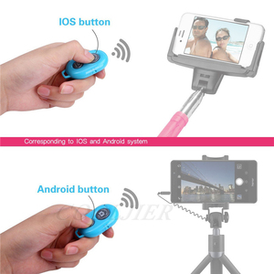 Image 3 - COOLJIER Shutter Release button controller adapter photograph control bluetooth remote button For selfie phone camera
