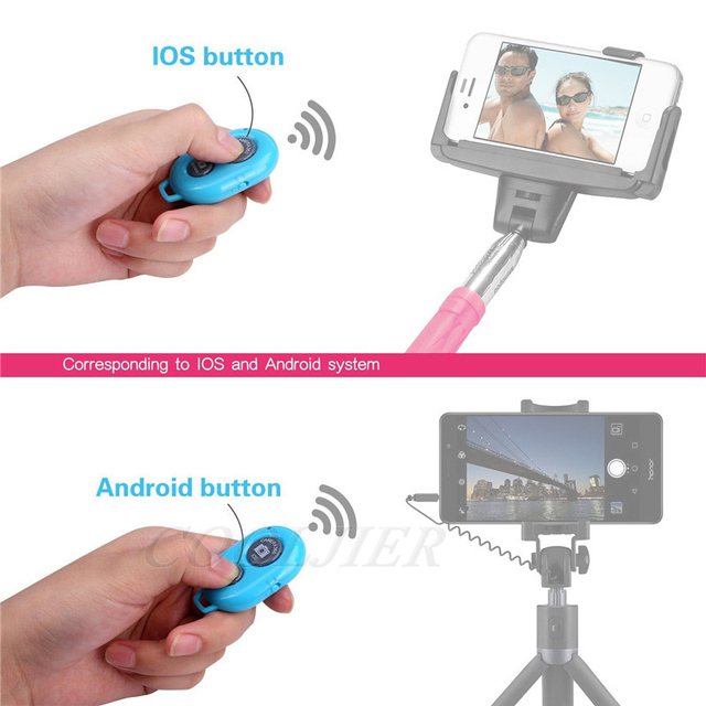 COOLJIER Shutter Release button controller adapter photograph control bluetooth remote button For selfie phone camera 2